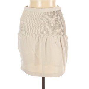 Halston Heritage Cream Pleated Skirt 6